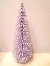8in. Lavender Lt. Purple Flocked Easter Christm... - $13.09