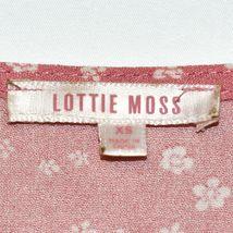 Lottie Moss Women's Pink Floral Open Front Tie Short Sleeve Shirt Size XS image 3