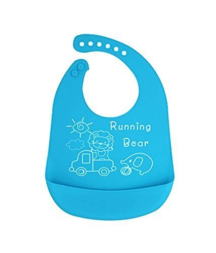 (Lion & Elephant) Cartoon Waterproof Baby Bib/Pinafore for Baby,Blue