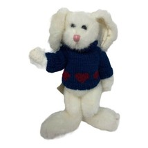 """BOYDS BEAR PLUSH AMELIA R. HARE 10"""" TALL RETIRED WHITE BUNNY IN BLUE SWE... - $13.50"""