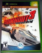 XBOX - BURNOUT 3 TAKEDOWN (Complete with Instructions) - $12.00