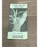 Vintage Pfeiffer Big Sur California State Park Map - Some Wear - $15.00
