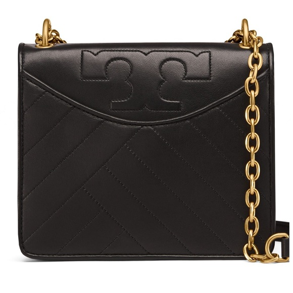 Tory Burch Alexa Convertible Black Leather Shoulder Bag image 2