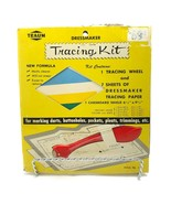 Vintage Dressmaker Tracing Kit Tracing Wheel And Paper Traum  - $11.87