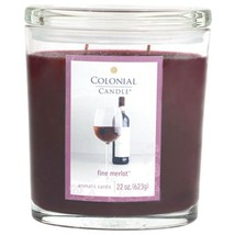 Colonial Candle Merlot Oval Jar Candle 22 Oz - €55,91 EUR