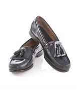 Bostonian Black Leather Kiltie Tassel Loafers Shoes Apron Toe Mens 9 Made in USA - $34.55