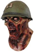 Capt Lester Mask Adult Zombie Helmet Bloody Yelling Halloween Costume TA498 - $57.99
