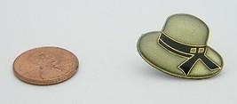 Late 1970's Early 1980's Woman's Gray Black Enamel Bucket Hat Lapel Pin D - $5.94