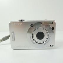 Sony Cyber-shot DSC-W50 6.0MP Digital Camera - Silver - $22.49