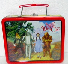 Wizard of Oz Tin Metal Lunchbox Dated 1998  - $14.95