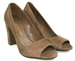 FRANCO SARTO Grand Women's Beige Suede Peep Toe Heels Size 7.5 - $32.86