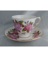 Vintage QUEEN ANNE Bone China (England) Hydrangea Floral Tea Cup & Sauce... - $24.40