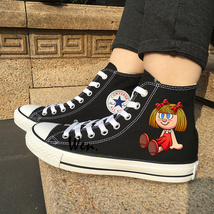 Black Converse Original Design Toy Bear Doll Canvas Shoes Unisex Sneakers - $119.00