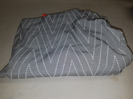 THRESHOLD GRAY WHITE SHOWER CURTAIN - $13.10