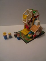 Original 1966 Fisher Price Music Box Ferris Wheel with 4 Little People Works 969 - $14.85