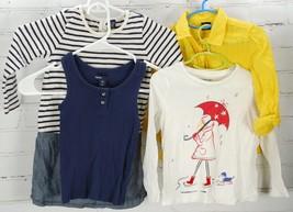 GAP KIDS OUTFIT LOT Dress Tank Top Graphic Tee Long Sleeve Shirt Girls 4... - $37.62