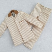 Ken Sleeper Set Pajamas Mattel 781 Brown White Stripes Vintage - $15.99