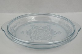 Early Fire King Philbe Sapphire Blue Ovenware Pie Plate Casserole Lid #3 - $19.95