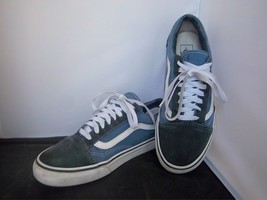 VANS - Unisex Blue Canvas Suede Shoes - SIZE - Men's 9.5   Women's 11 - $23.99