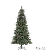 Vickerman 4.5' Snow Tipped Pine and Berry Christmas Tree - Unlit - $132.23