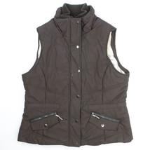 Weatherproof Garment Company Womens Brown Puffer Vest Size X-Large Snaps... - $16.82