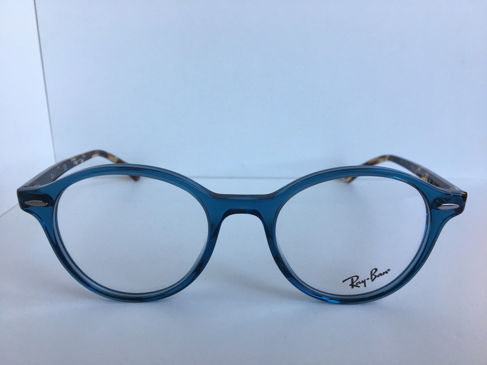 55e85bb56f7 ... New Ray-Ban RB 7118 RB7118 8022 48mm Rx Round Blue Havana Eyeglasses  Frames ...