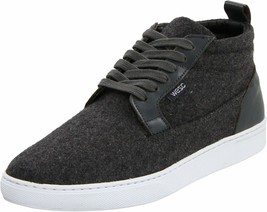 WeSC Men's Charcoal Melange Hagelin Melton Wool Fashion Sneakers Shoes NIB