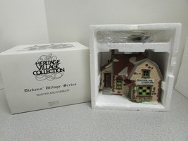 DEPT 56 59242 BOOTER & COBBLER  LIGHTED BLDG W/CORD HERITAGE VILLAGE  D14 - $19.55