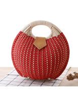New Fashion Woven Small Rattan Circle Cross Body Shoulder Bohemia Handba... - $19.61