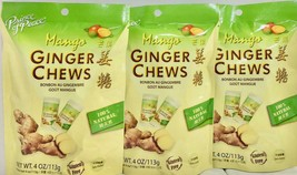 Prince of Peace Ginger Chews Candy with Mango (100% Natural) 4 oz ( Pack... - $17.81