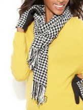 Charter Club  Houndstooth Chenille Woven Scarf  - $9.89