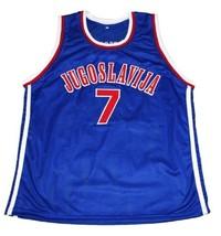 Toni Kukoc #7 Jugoslavija Yugoslavia Basketball Jersey New Sewn Blue Any Size image 4