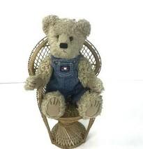 "Boyds Bears 14"" Investment Collectible Billy Bob Bruin Tan Plush Denim O... - $16.76"