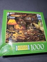 New MB 1997 Charles Wysockis Americana 1000 Piece Puzzle REEL DREAMS Sealed Box  - $19.04