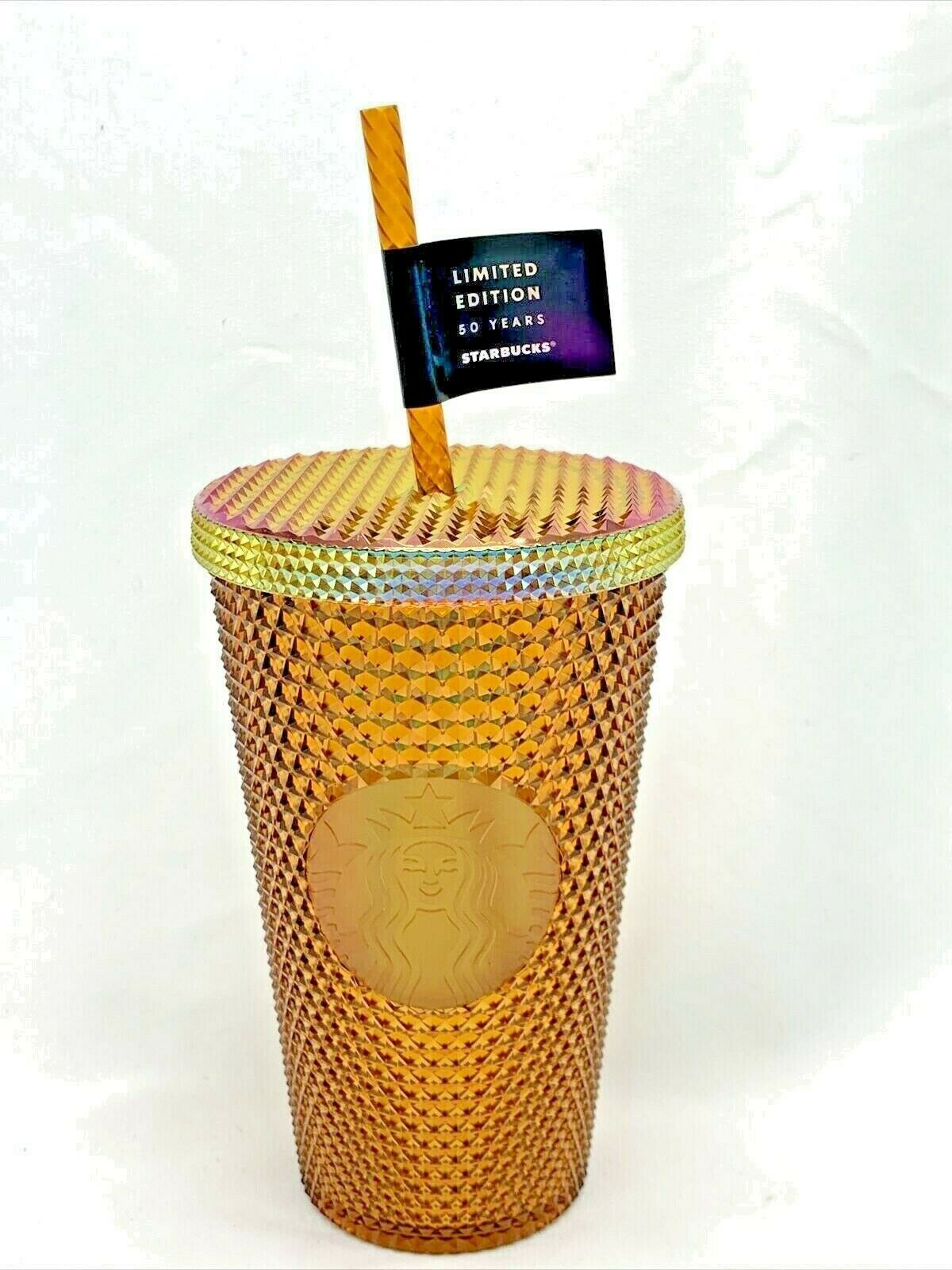 Primary image for Starbucks 2021 Limited Edition 50 Years Copper Iridescent Studded 16oz Tumbler