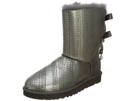 UGG Womens Bailey Bow Bling Boots Grey 1004791 - $295.00