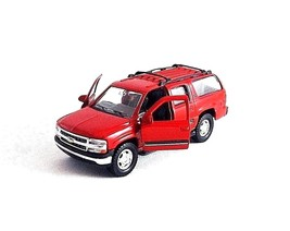 2001 CHEVROLET SUBURBAN RED WELLY 1:38  DIECAST CAR COLLECTOR'S MODEL, NEW - $25.64