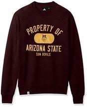 NCAA Arizona State Sun Devils Adult Men NCAA Property of Fleece Crew,Medium,Maro