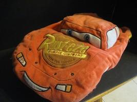 Disney Pixar Cars 3 D Plush Car Pillow #95 Lightening McQueen Soft Micro Pillow - $16.82