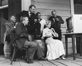 Gary Cooper And Grace Kelly And Thomas Mitchell In High Noon On Set Watching Tv  - $69.99