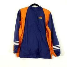 Girls Vintage 90's Adidas Windbreaker 1/4 zip jacket Large Spellout Size XL - $34.64