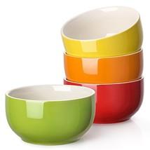 LIFVER 20 Ounces Porcelain Soup Bowl, Cereal Bowl Set, Assorted Colors, ... - £17.84 GBP