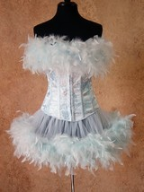 Pick Size-Ice Queen Fairy Can Can Pin Up Carnival Costume Corset & Feath... - $109.99