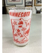 Minnesota Land of 10,000 lakes souvenir glass vintage paul bunyan Duluth... - $29.99