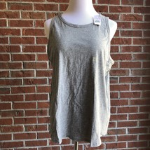 LOFT Vintage Soft Shirttail Tank Top - Gray - Size L - $19.39