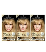 Schwarzkopf Color Ultime Iconic Blondes 8.0 Medium Blonde Permanent Dye Lot of 3 - $39.55