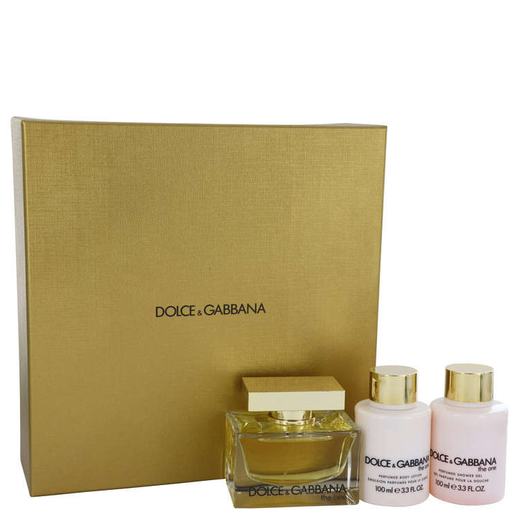 Dolce & Gabbana The One 2.5 Oz EDP + Body lotion + Shower Gel 3 Pcs Gift Set
