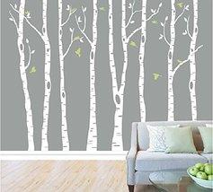 Set of 8 Birch Tree Wall Decal Nursery Big White Tree Wall Decal Vinyl D... - €65,27 EUR