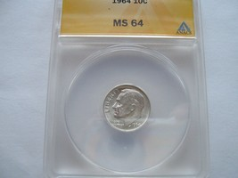 Roosevelt Dimes  , ANACS Certified , Lot of 4 - $74.91