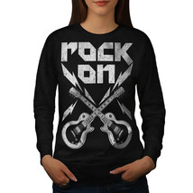 Rock'n Roll Smash Jumper Guitar Rock Women Sweatshirt - $18.99